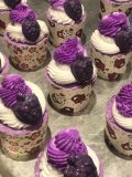 BLACK RASPBERRY VANILLA BUBBLE BATH BOMB CUPCAKE